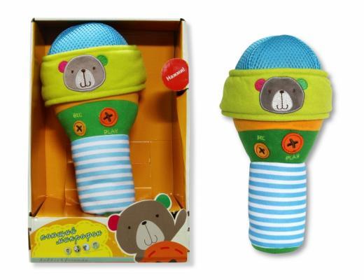 """Интерактивная игрушка 1Toy Плюшевый микрофон """"bobbie & friends"""" с тремя режимами воспроизведения голоса от 6 месяцев разноцветный Т57148"""