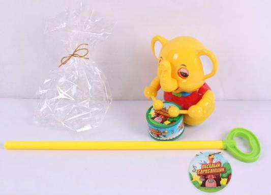 Каталка на палочке Play Smart Слон оранжевый от 18 месяцев пластик Р41295