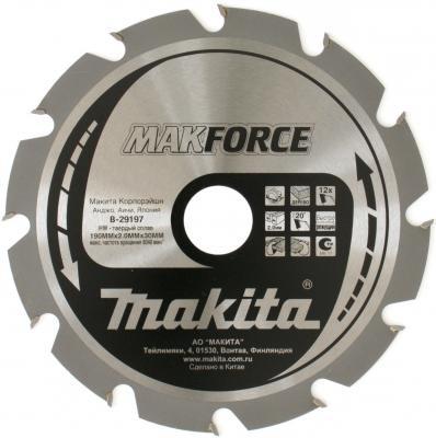 Пильный диск Makita 190х30х2мм 12зуб по дереву B-29197