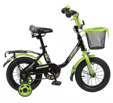 "Велосипед Velolider LIDER STARK 12"" 12U-009HG черный/зеленый"