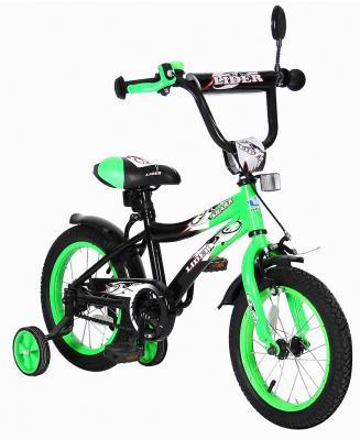 "Велосипед Velolider LIDER SHARK 14"" 14A-1487GN зеленый/черный"