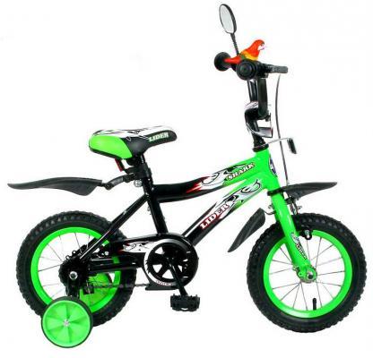 "Велосипед Velolider LIDER SHARK 12"" 12А-1287GN зеленый/черный"