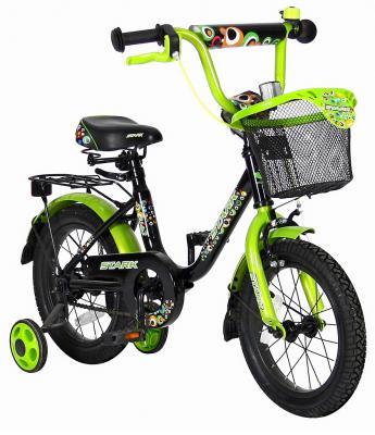 "Велосипед Velolider LIDER STARK 14"" 14U-009HG черный/зеленый"