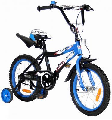 "Велосипед Velolider LIDER SHARK 16"" 16A-1687SH MATT синий/черный"