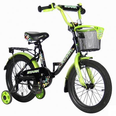 "Велосипед Velolider LIDER STARK 16"" 16U-009HG черный/зеленый"