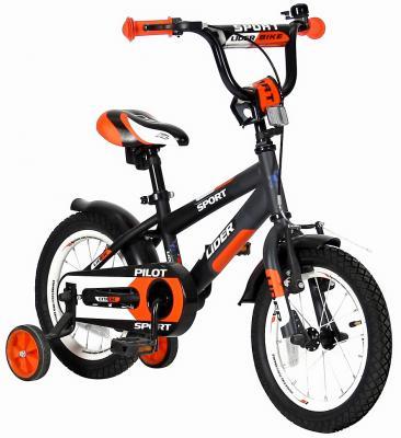 """Велосипед Velolider LIDER PILOT 14"""" LP14HO черный/оранжевый"""