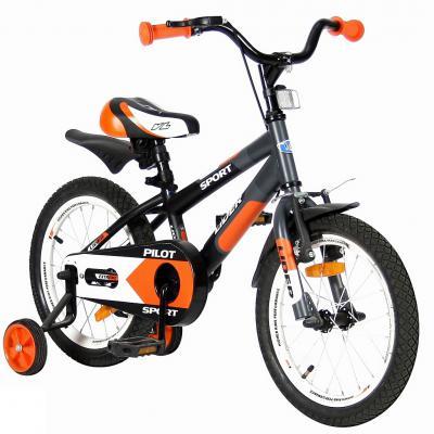 """Велосипед Velolider LIDER PILOT 16"""" LP16HO MATT черный/оранжевый"""