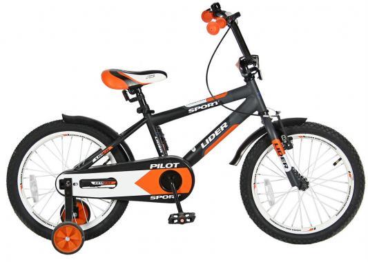 """Велосипед Velolider LIDER PILOT 18"""" LP18HO MATT черный/оранжевый"""