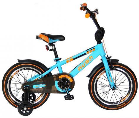 Велосипед Velolider RUSH SPORT 16 бирюзовый R16B велосипед двухколёсный velolider lider shark 12 12а 1287gn зеленый черный