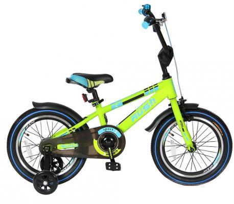 Велосипед Velolider RUSH SPORT 16 зеленый R16G velolider r16g 2 х колесный велосипед 16 rush sport зеленый