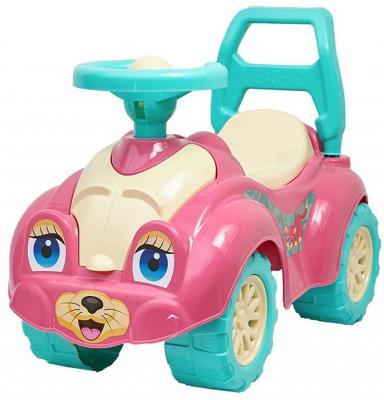 Каталка-машинка R-Toys Zoo Animal Planet Кошка розовый от 8 месяцев пластик Т0823 каталка качалка r toys лошадка трансформер пластик от 8 месяцев белый 5570 ор146