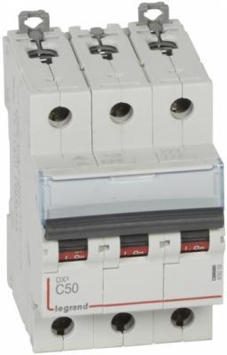 Автоматический выключатель Legrand DX3 10kA/16kA тип C 3П 50А 409259
