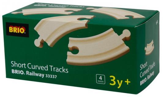 Набор Brio Железнодорожное полотно закругленное с 3-х лет 33337 железная дорога brio железнодорожное полотно с переключателем направления с 3 х лет