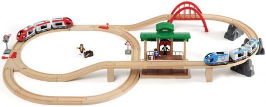 Железная дорога Brio 2-уровневая с вокзалом погрузчик с вращением с магнитом блист brio