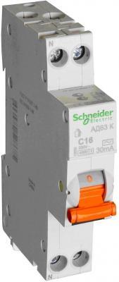 Выключатель дифференциального тока Schneider Electric АД63 1П+Н 10A 30мА C 12521