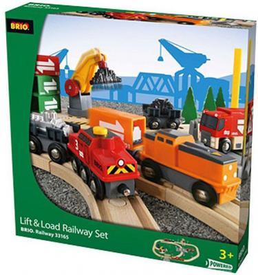 Железная дорога Brio с подъемниками, переездами, грузами и поездом с 3-х лет железная дорога brio классика делюкс 25 эл 45х8х27см кор