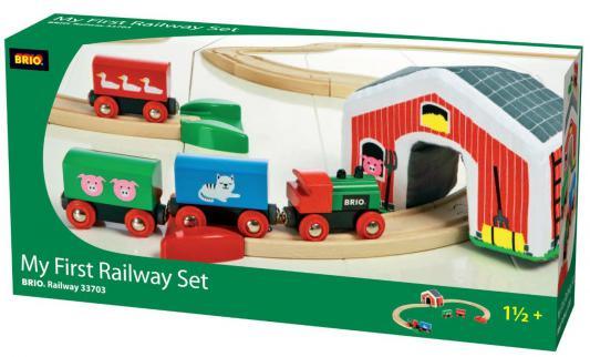Железная дорога Brio с мягким туннелем Мой Первый Паровозик