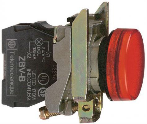 Лампа сигнальная Schneider Electric 22мм 24В красный XB4BVB4