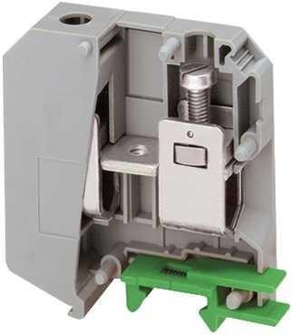 Клеммник Schneider Electric винтовой проходной сечением провода 70мм 2 точки подключения серый NSYTRV502