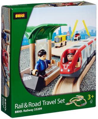 Железная дорога Brio с переездом и станцией