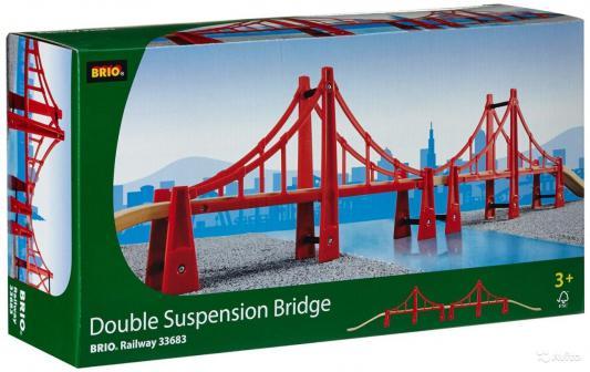 Подвесной мост ж/д Brio двойной погрузчик ж д brio с подъемником и фигуркой