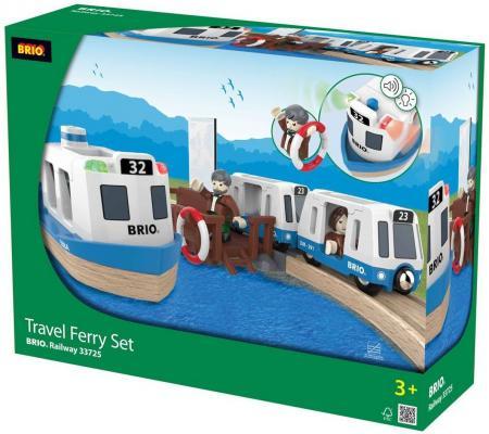 Железная дорога Brio с паромом и поездом