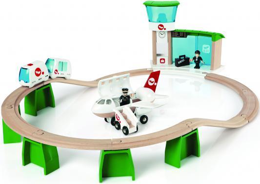 Железная дорога Brio Монорельс в аэропорт с самолетом и поездом