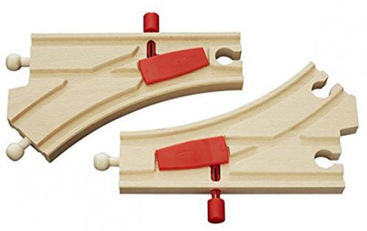 Железная дорога Brio Железнодорожное полотно с переключателем направления с 3-х лет машинки brio погрузчик с подъемником и фигуркой brio