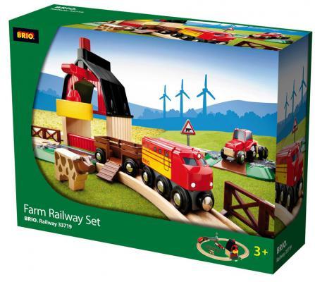 Железная дорога Brio с мини-фермой и кормушкой с 3-х лет железная дорога brio 2 уровневая с вокзалом с 3 х лет