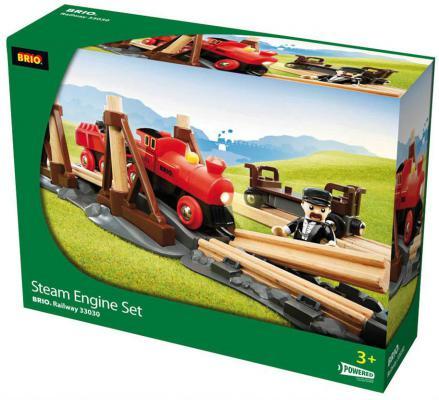 Игровой набор ж/д Brio с паровозом и строящимся мостом