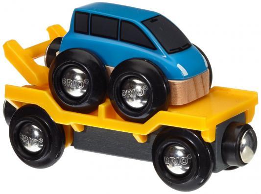 Вагон Эвакуатор Brio с машинкой brio погрузчик с подъемником