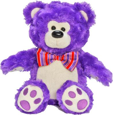 Мягкая игрушка медведь 1TOY Мишка мальчик искусственный мех сиреневый 21 см Т57358