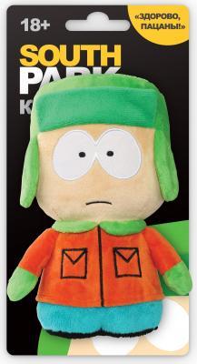 Мягкая игрушка герой мультфильма 1TOY Южный парк - Кайл со звуком текстиль разноцветный 12 см Т57486 мягкая игрушка южный парк с чипом стэн