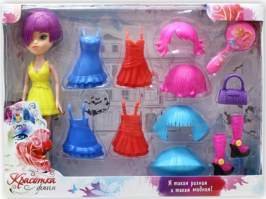 Красотка фэшн кукла с аксессуарамиТ57135 1toy кукла красотка фэшн с одеждой цвет платья оранжевый