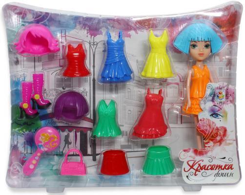 Красотка фэшн кукла с аксессуарамиТ57126 1toy кукла красотка фэшн с одеждой цвет платья оранжевый