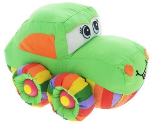 Мягкая игрушка машинка Tongde Радужный транспорт зеленый 21 см В72432