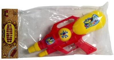 Водный бластер Тилибом с 2мя отверстиями 30х15см красный для мальчика