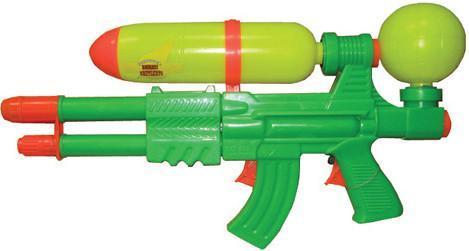 Водный пистолет Тилибом с двумя отверстиями и двумя курками для мальчика Т80373 водный пистолет тилибом с 2 отверстиями 30 см
