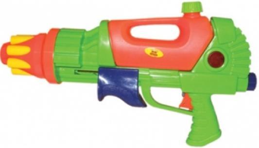 Водный пистолет Тилибом с помпой и трещеткой спереди 40,5х24см зеленый для мальчика