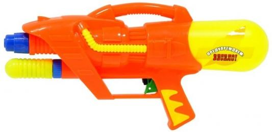 Водный пистолет Тилибом с помпой оранжевый для мальчика водный пистолет тилибом с помпой 45см красный для мальчика