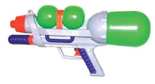 Водный пистолет Тилибом с помпой желтый для мальчика Т80389 в ассортименте