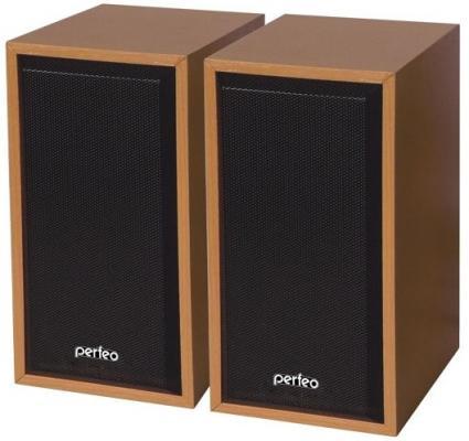 Колонки Perfeo Cabinet PF-84-WD 2x3 Вт USB бук
