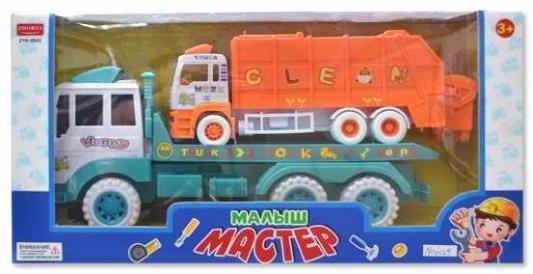 Инерционная машина Zhorya грузовик/мусоровоз (2 вида микс) 46х28х16см