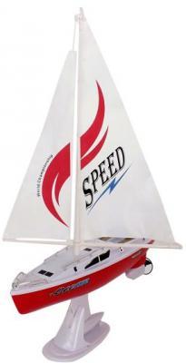 Купить Катер на радиоуправлении Shantou Gepai Парусная яхта пластик от 3 лет белый 3688B, Радиоуправляемые игрушки