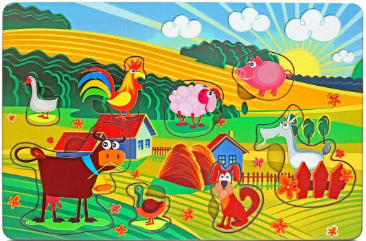 Рамка-вкладыш Wood Toys Веселая ферма