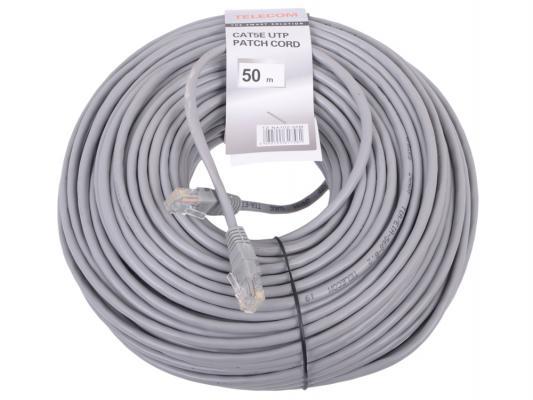 Патч-корд 5е категории Telecom NA102--50M 50м серый