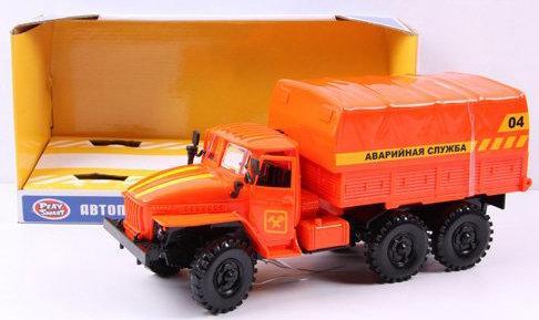 Аварийная служба Play Smart Автопарк оранжевый автомат play smart снайпер р41399