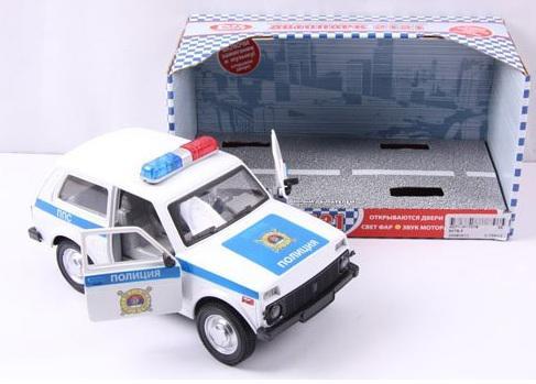 Полицейская машина Play Smart Нива ВАЗ 2125 Милиция 18 см Р40525 фаркоп avtos на ваз 2108 2109 2113 2114 2016 тип крюка h г в н 750 50кг vaz 14