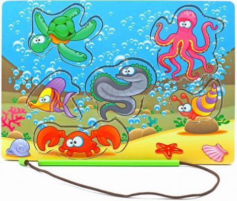 Рамка-вкладыш Wood Toys Магнитная рыбалка 1 6 элементов