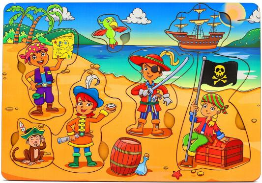 Рамка-вкладыш Wood Toys Дети-пираты